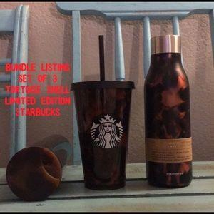 Set of 3 Starbucks Tortoise Shell Limited Edition